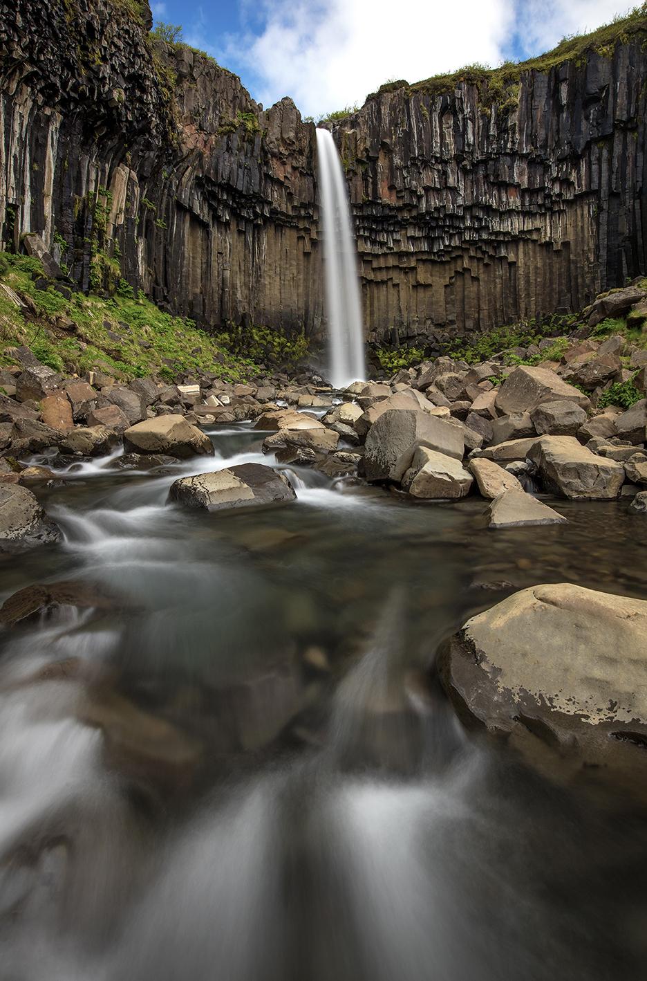 Svartifoss Iceland waterfall basalt, photo