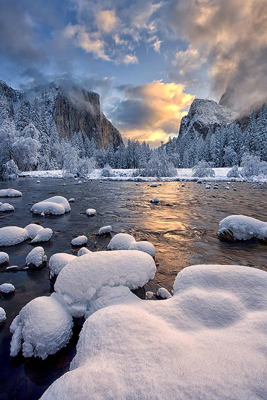 Yosemite national Park, Valley View, Snow, el captain, , photo